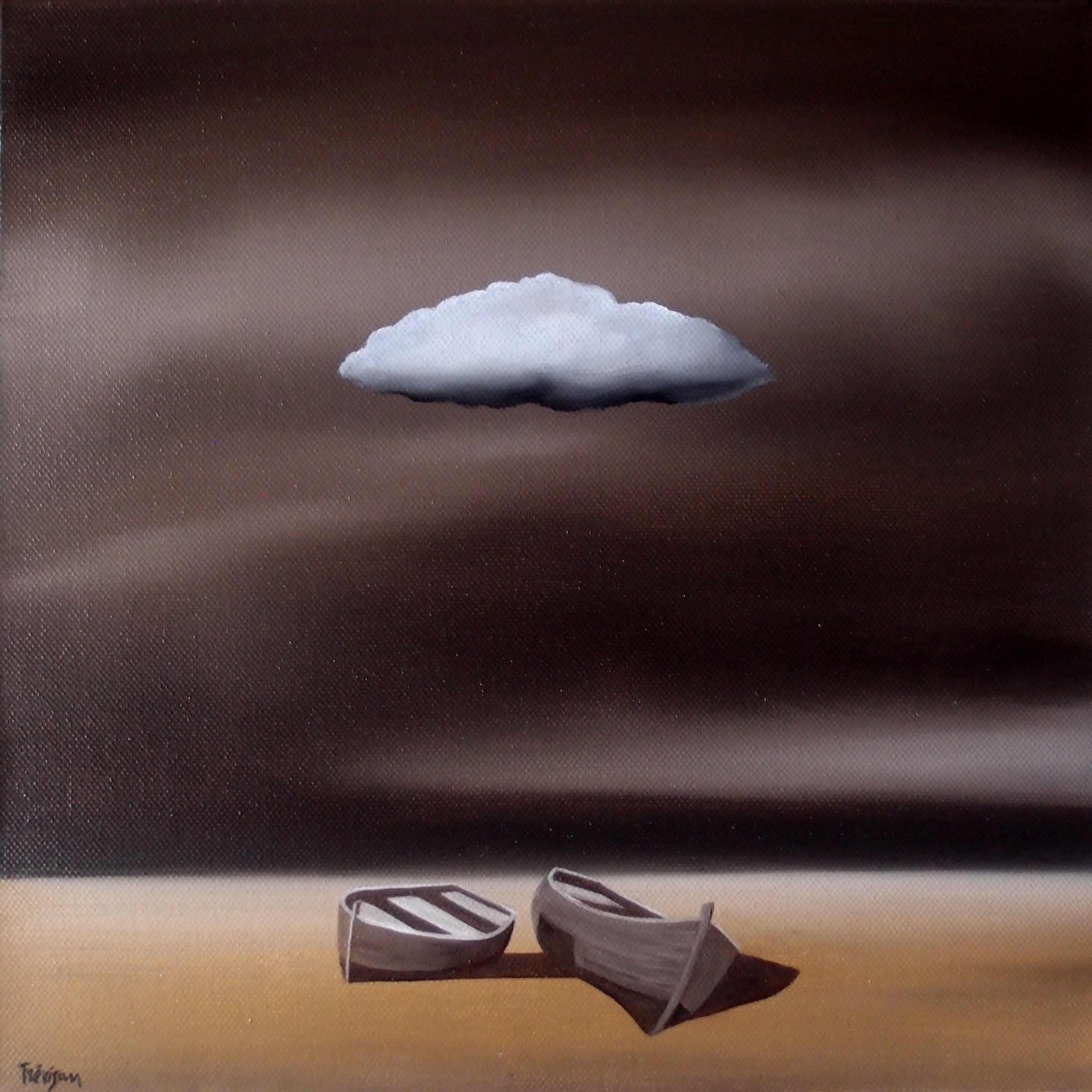 'The Cloud', Oil on canvas, 30 x 30 cm, £400