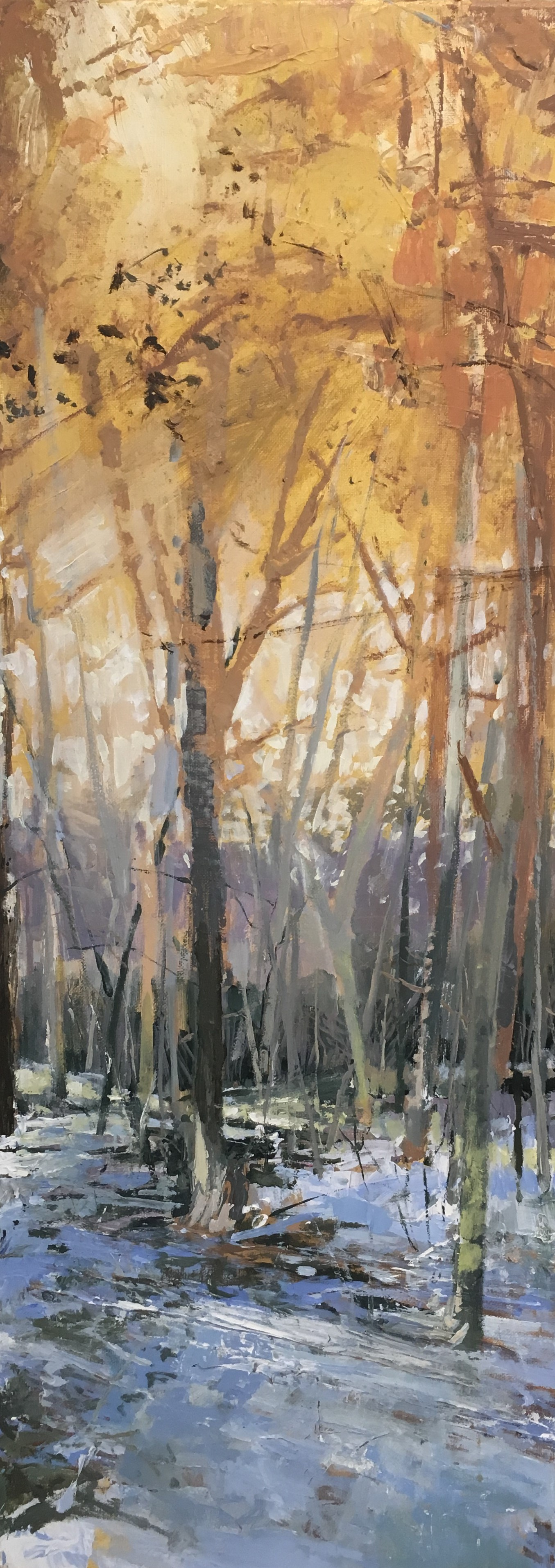 Queenswood, Acrylic on canvas, 30 x 80 cm, £750