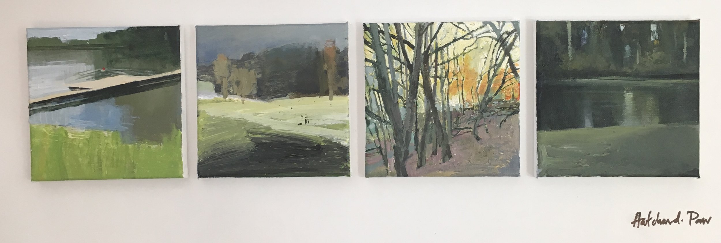 Heath Series (I,II), Acrylic on canvas, 30 x 60 cm, £650 – £100 each