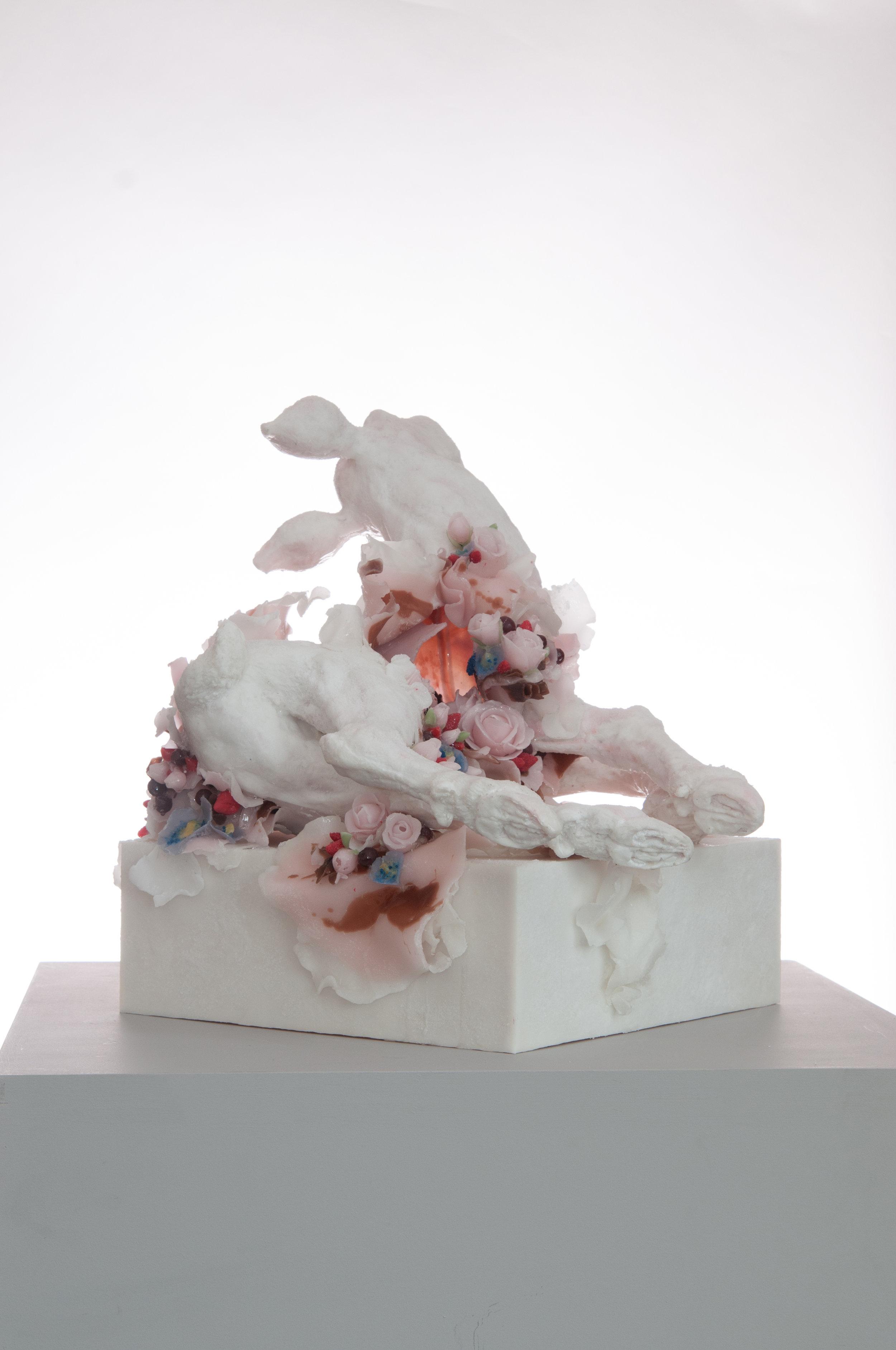 Rapture, 2018, Polyester resin, wax, 45 x 50 x 50cm, £9000