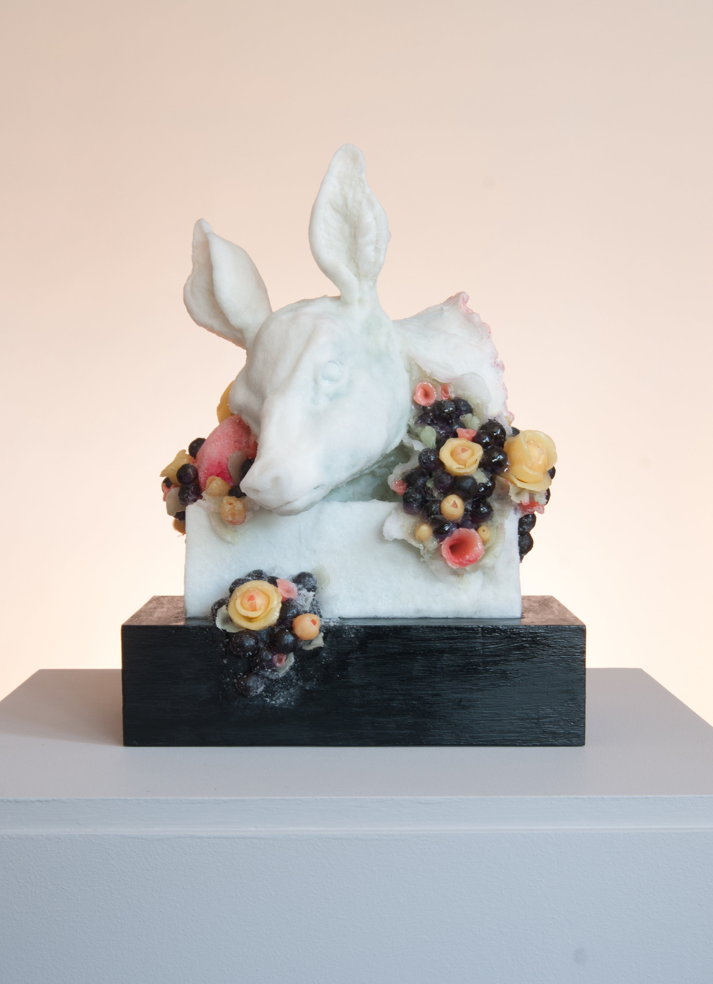 Sweet Slice, 2017, Polyester resin, wax, wood, mixed media, 37 x 27 x 25cm, £4,000