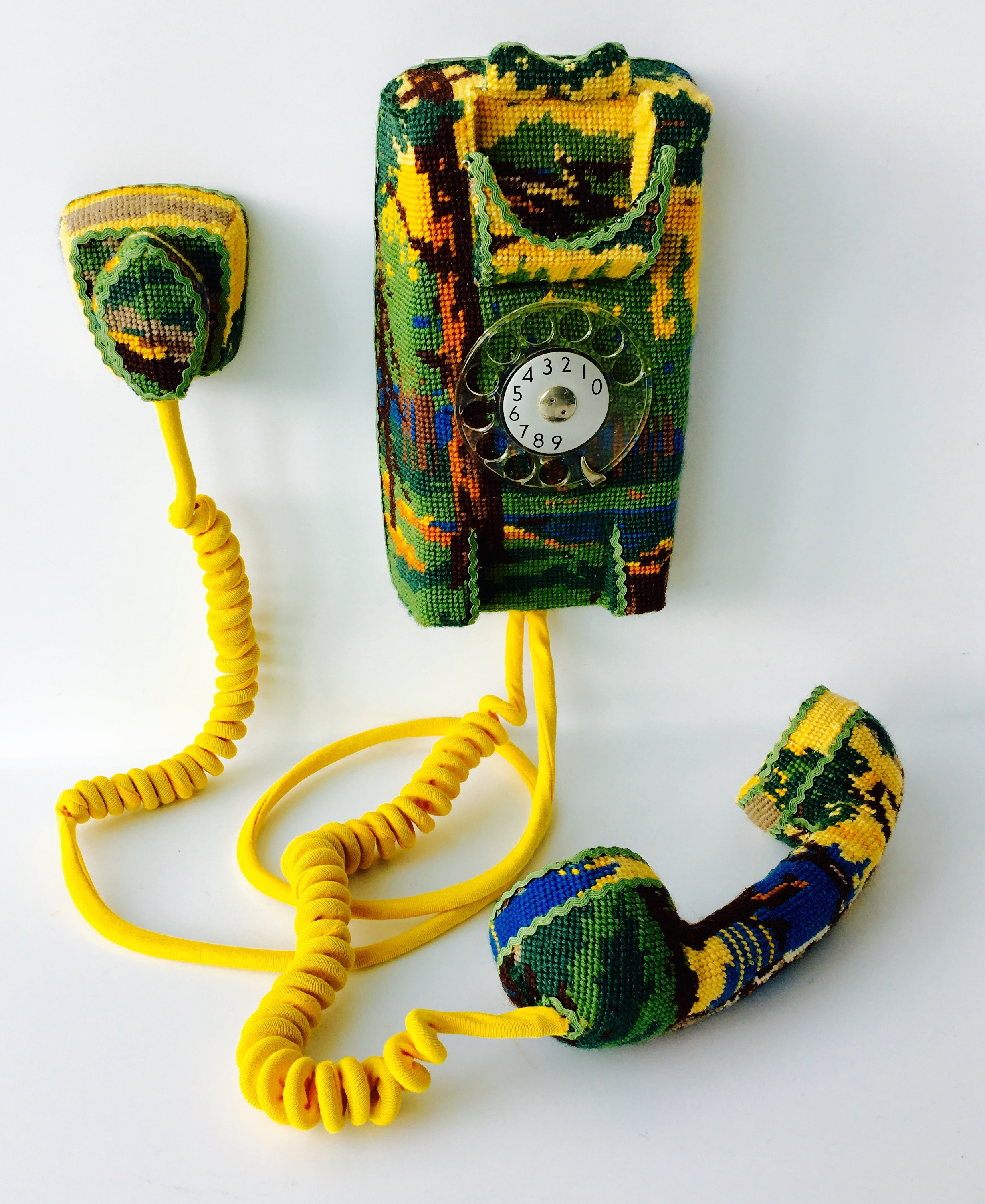 Hold on…, Vintage Telephone Embroidery, £1000