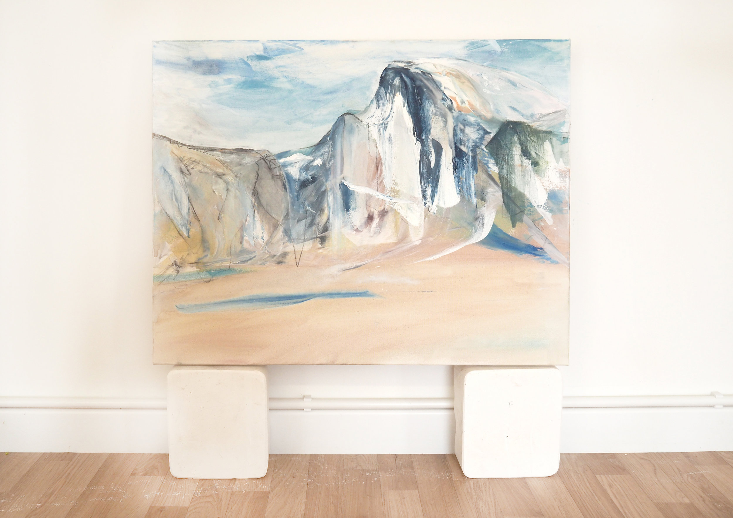 'View of Half Dome, Yosemite' (installation shot), (2018) Mixed Media, 76 x 100cm..jpg