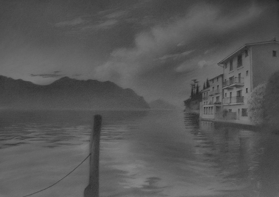Lake Garda  (2013), Graphite on paper, 42cm x 29.7cm, £595.