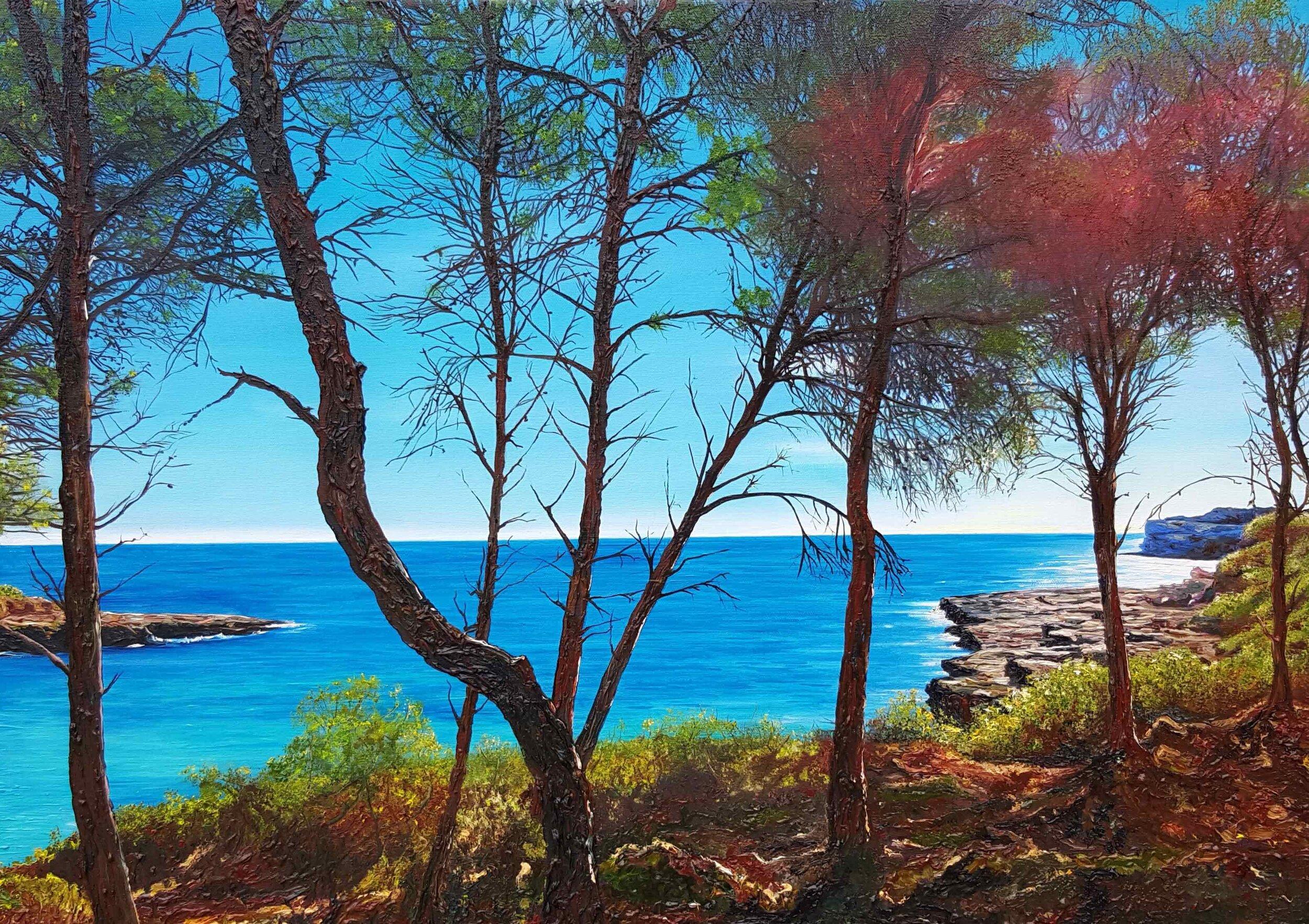 'Cala Burgit' , 2016, Oil on canvas, 50 x 70 cm (20 x 27.5 in).