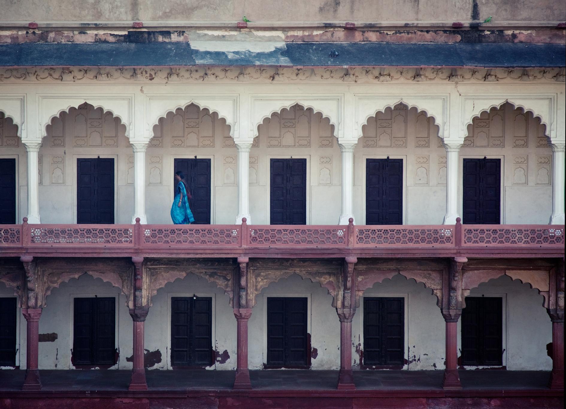Blue Sari, India