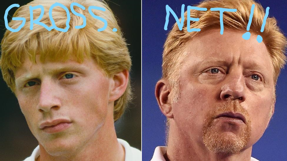"""Boris """"Boom Boom"""" Becker. Before and after taxes."""