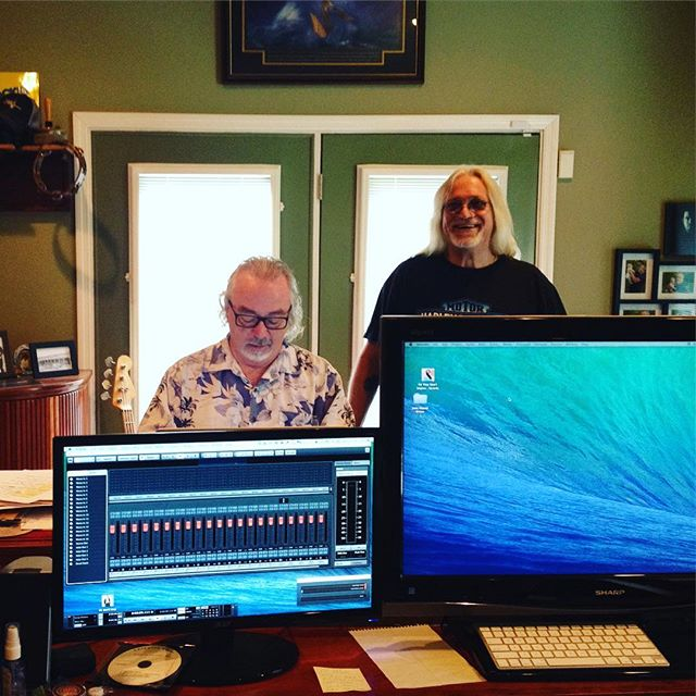 Frank Green and Phil Harris in the studio Nashville, Tn. at #digitalmaster #levertonbrothersband #ben3lev
