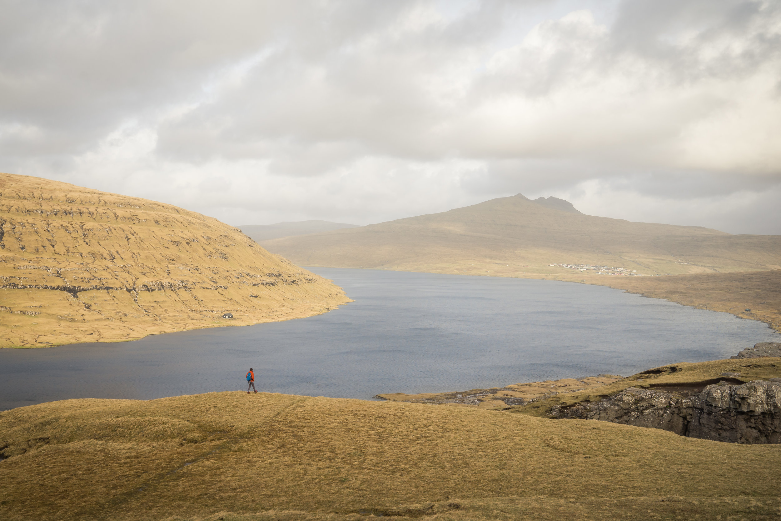 Lake Sørvágsvatn in the Faroe Islands