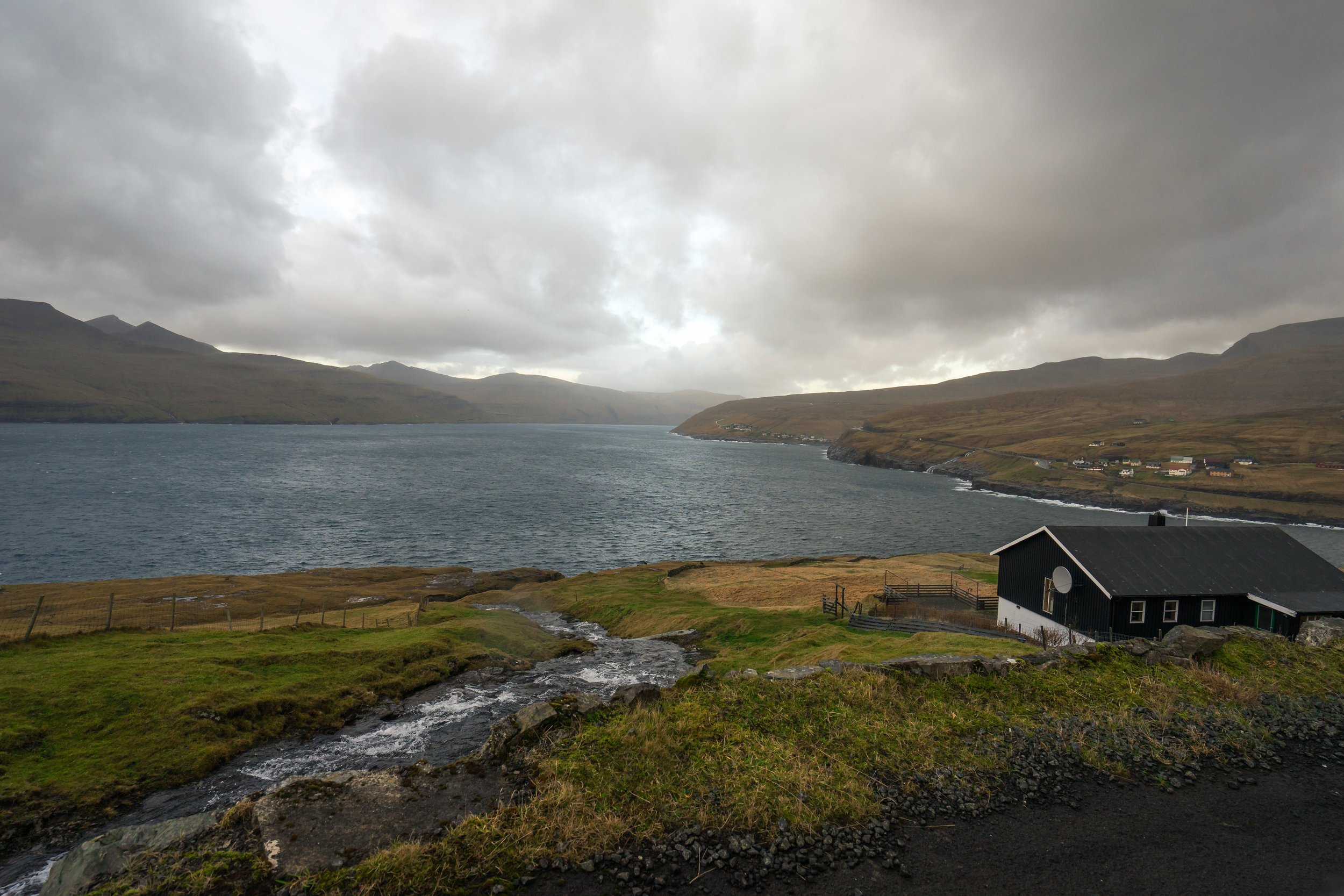 Storm Clouds approach in the Faroe Islands