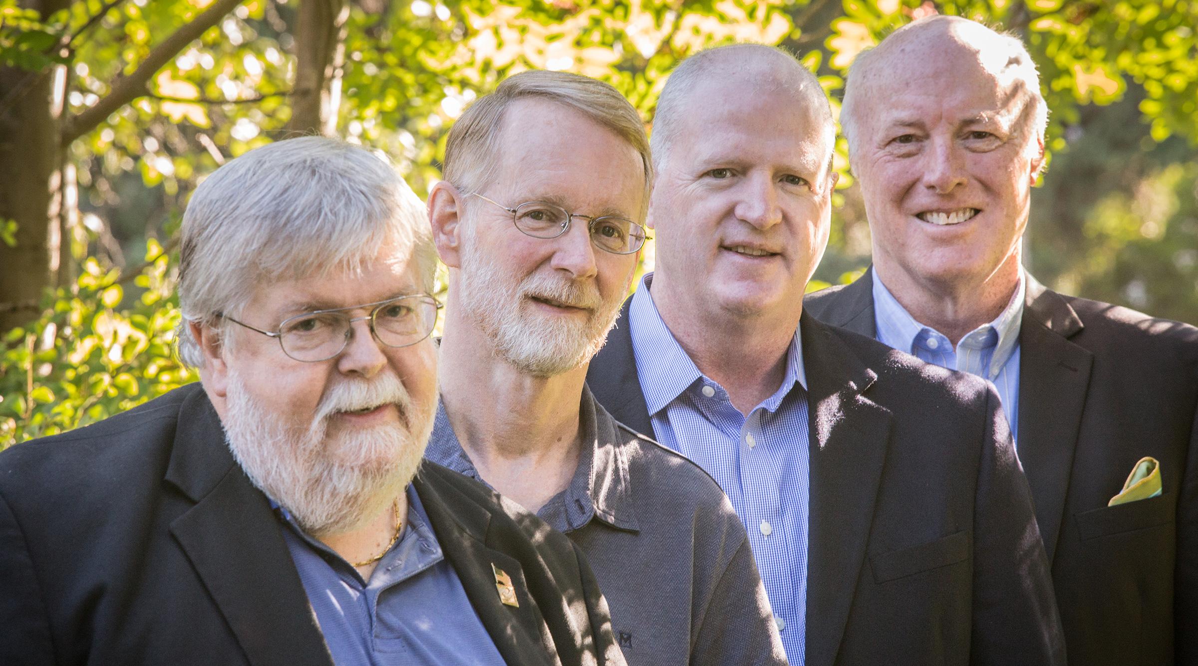 LEFT TO RIGHT:  Maynard Tapp, Mike Jens, Pat McQuillan, Dave Norton