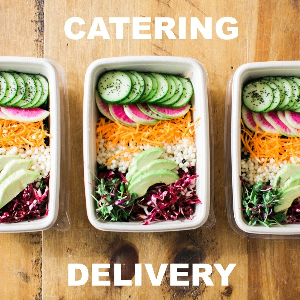 Get catering delivered and set up!