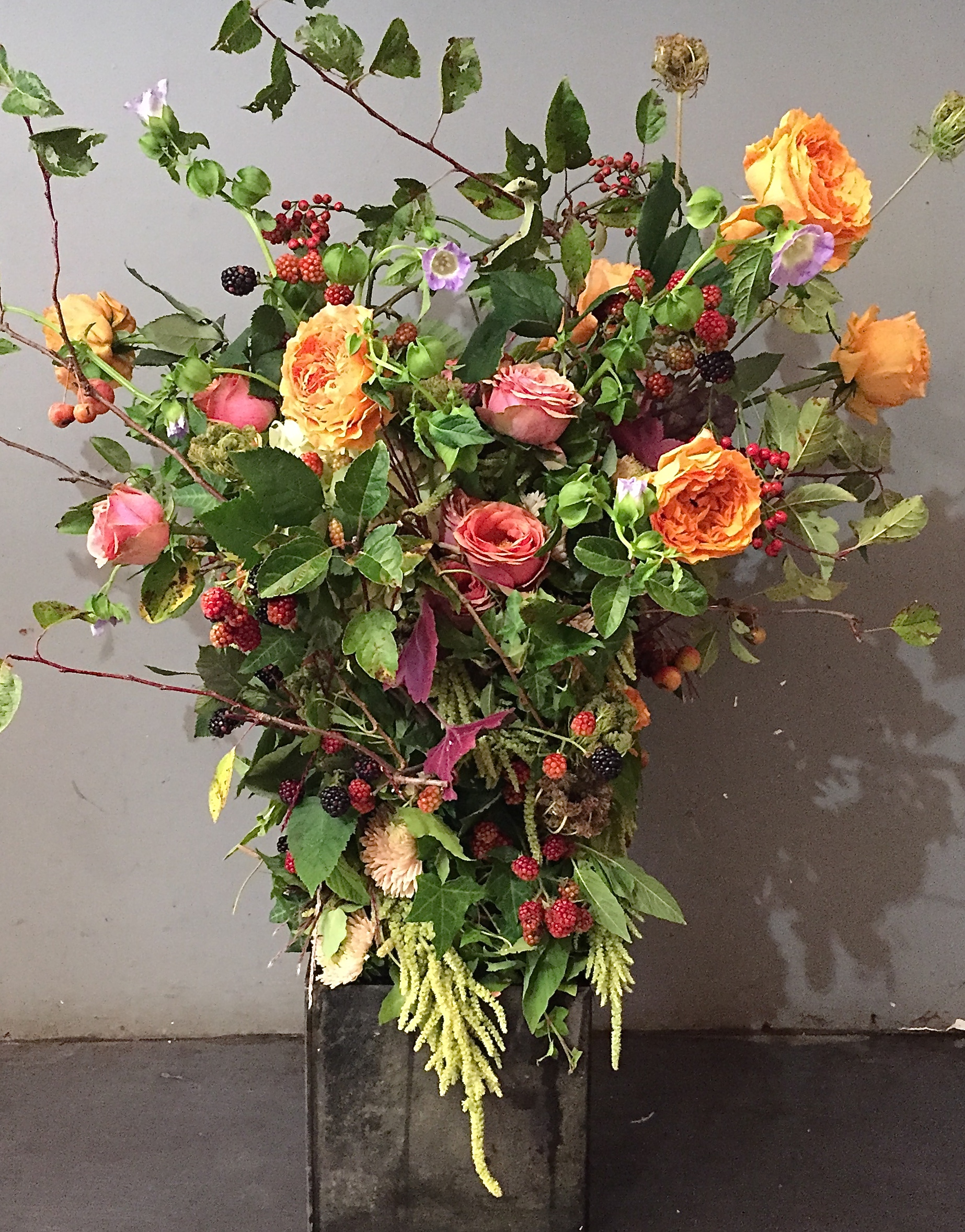 Call to the Wild bouquet inspired by Catherine Muller in Paris.
