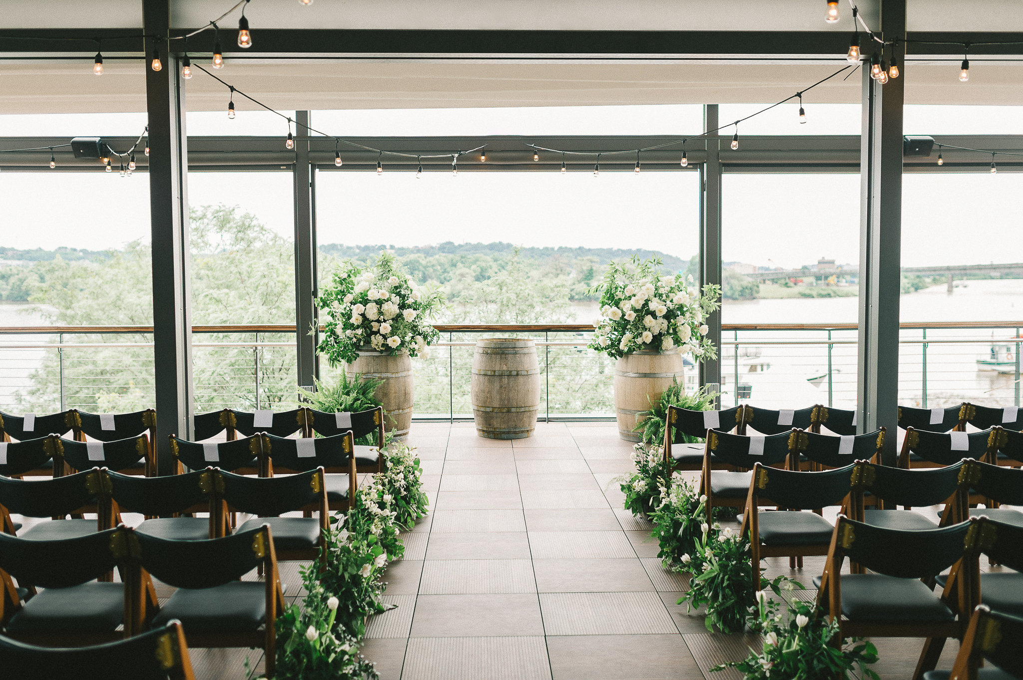 Ceremony space photographed by  Liz Fogarty