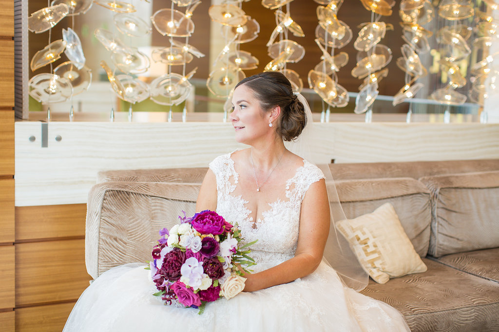 And how pretty is the bride? Kearney is regal against this backdrop.