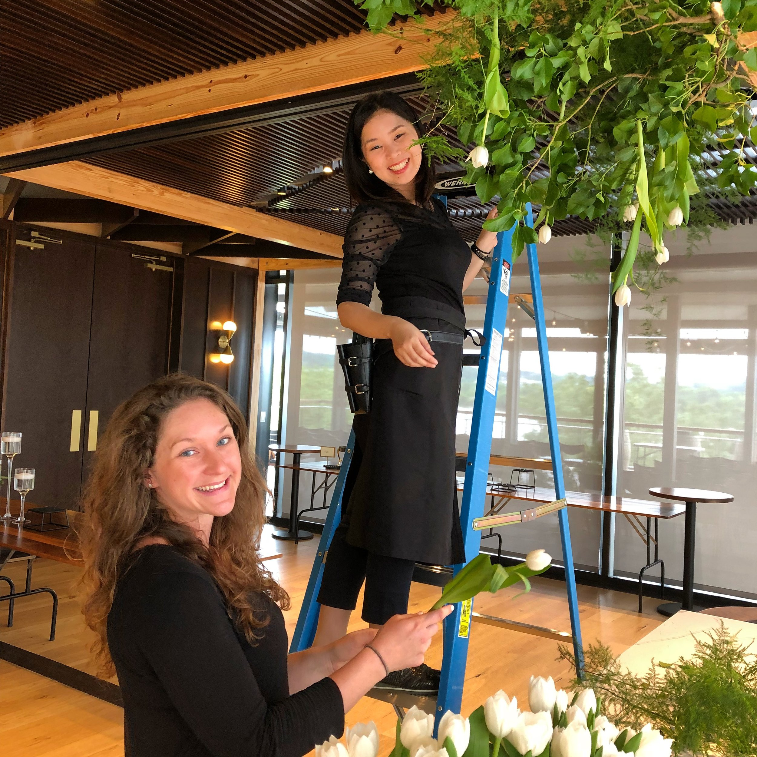 Ayaka and Chelsea at  District Winery  for a summer installation