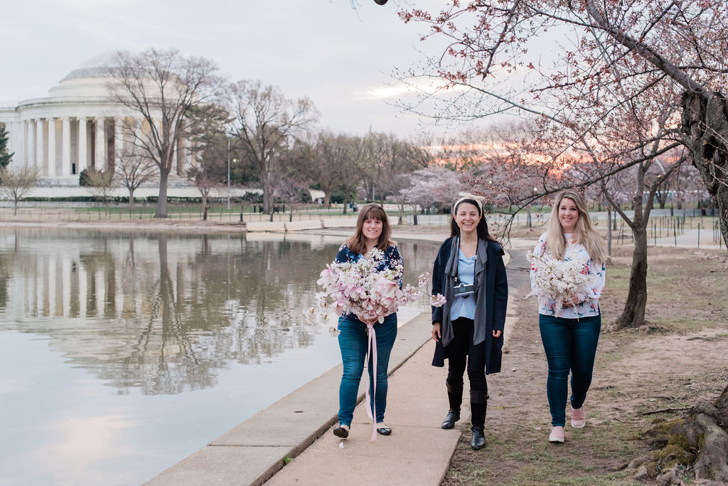 CherryBlossom-8402.jCherry Blossom + Jefferson Memorial + Atelier Ashley Flowers + By Brittany Branson + Marie Windsor Photography + Calligraphette & Co + Cherry Blossom Bouquetpg