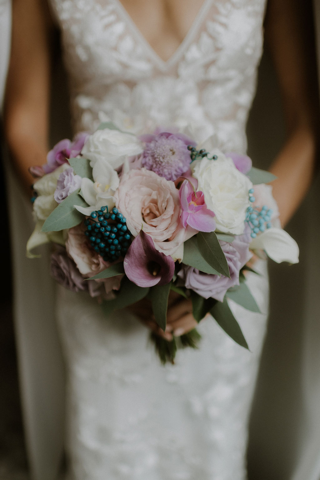Atelier Ashley Flowers + Ritz DC + Bridal Bouquet + Roses + Violet Short
