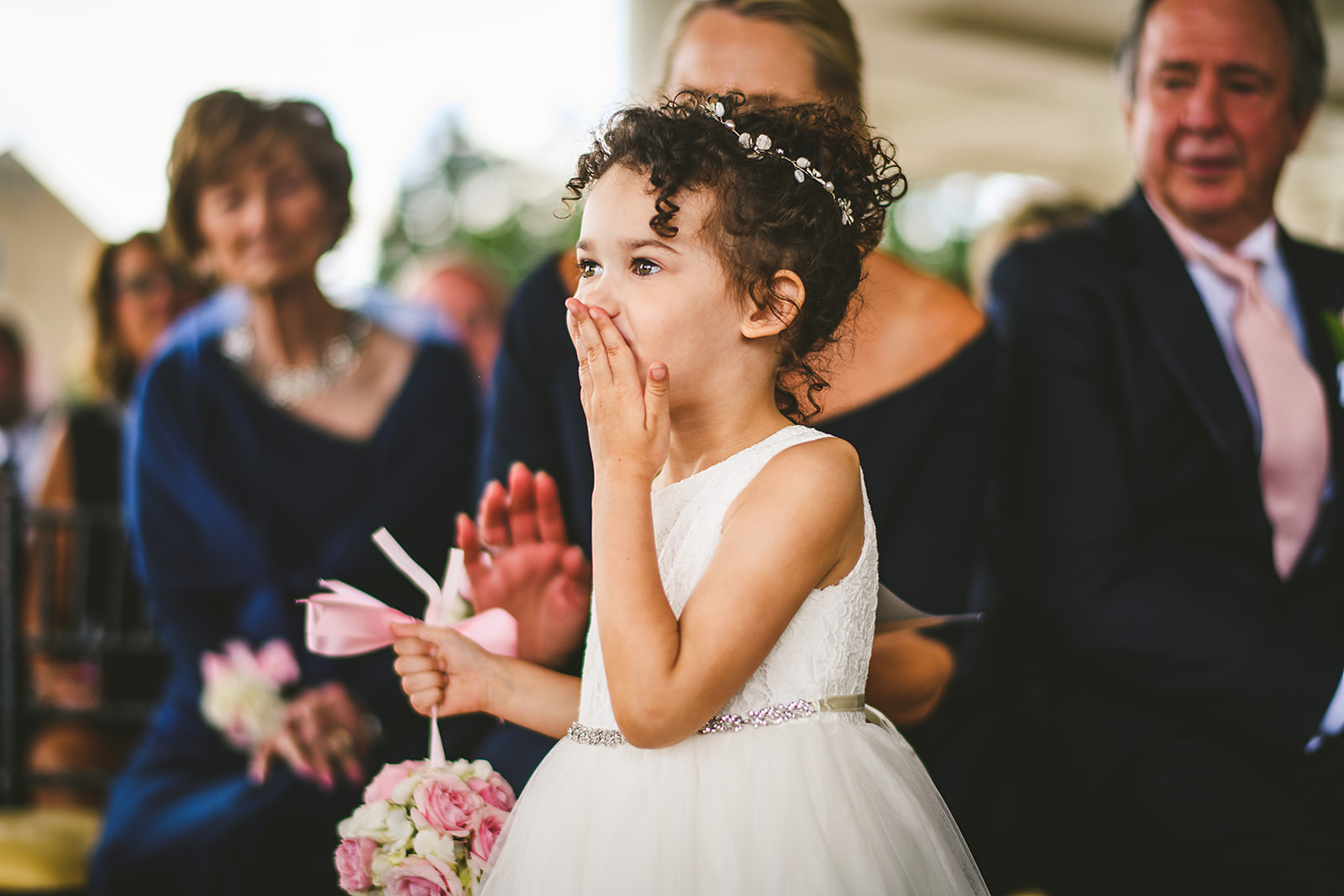 Atelier Ashley Flowers + Sam Hurd Photography + Washington Golf and Country Club + Diamond and Pearl Wedding + flower girl flowers + flower girl ideas + flower girl dress