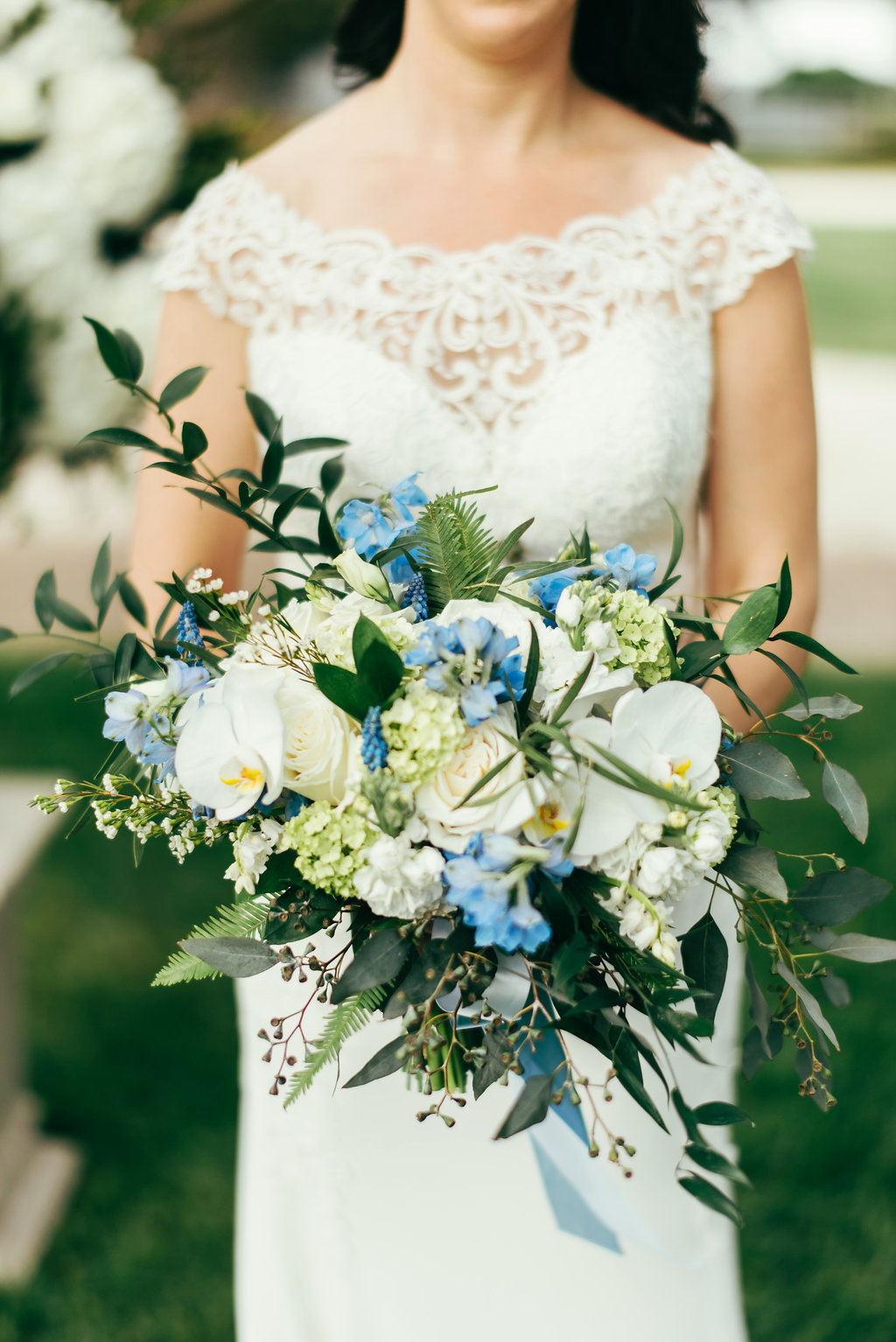 Atelier Ashley Flowers + Woodlawn + Pope Leighhey House + Anna Reynal Photography + DC Weddings + DC Florist + bouquet + dusty blue flowers + bridal