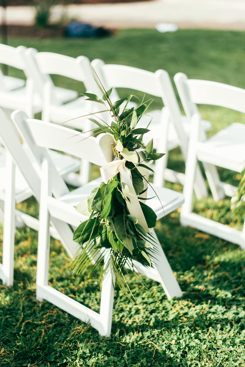 Atelier Ashley Flowers + Woodlawn + Pope Leighhey House + Anna Reynal Photography + DC Weddings + DC Florist + aisle flowers + chair decor