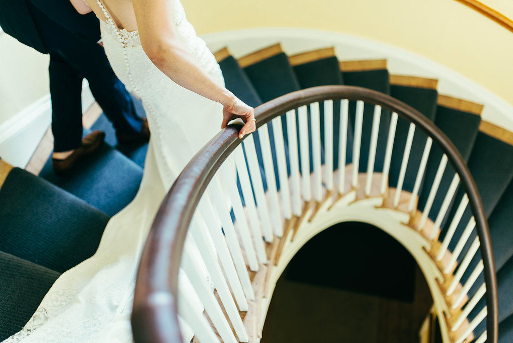 Atelier Ashley Flowers + Woodlawn + Pope Leighhey House + Anna Reynal Photography + DC Weddings + DC Florist + staircase photo
