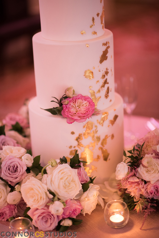 Atelier Ashley Flowers +Erin and Ryan + Mandarin Oriental + Connor Studios + Ivory and Blush + Wedding Flowers + cake