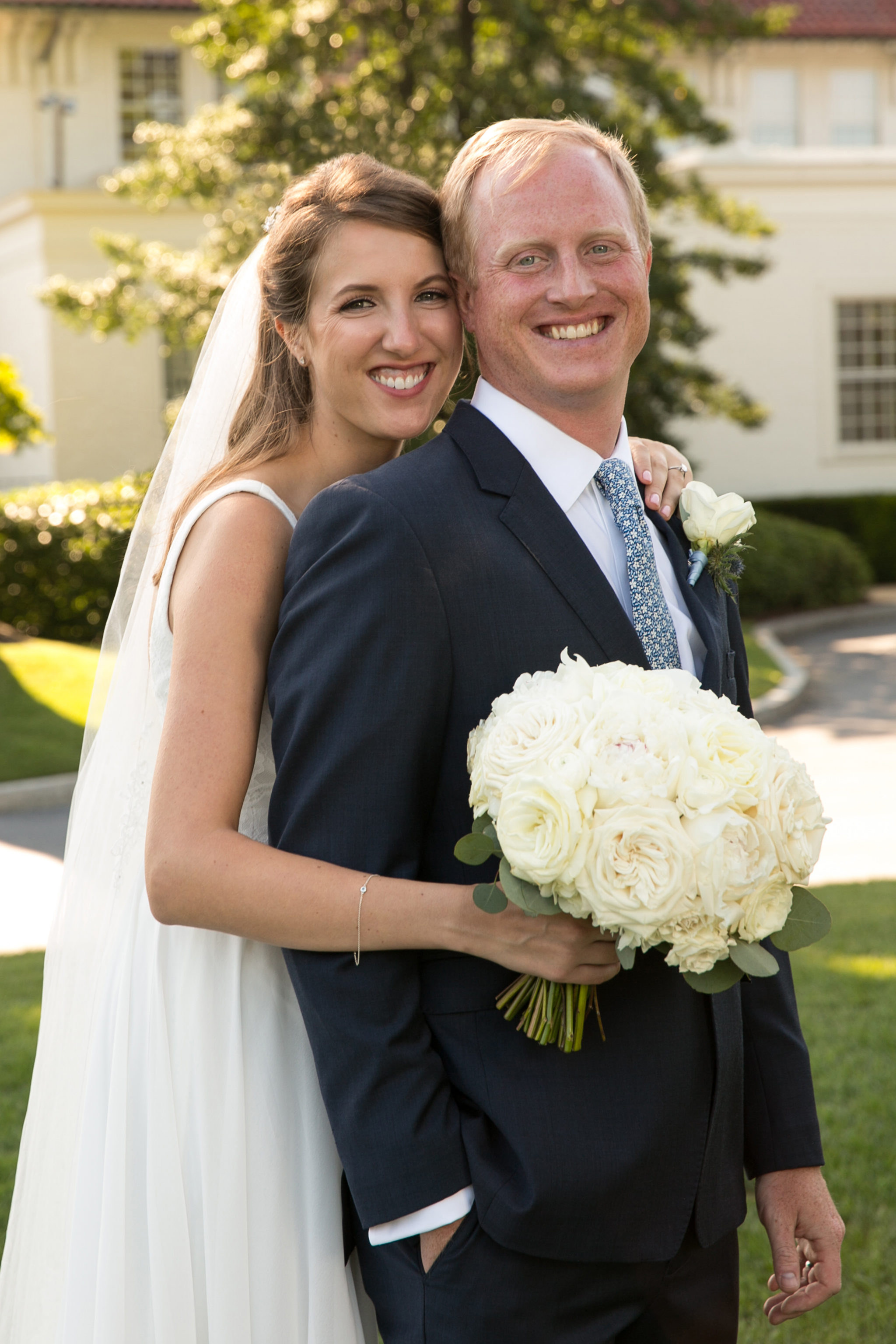 Atelier Ashley Flowers + Dusty Blue + Borrowed and Blue Photography + Congressional Country Club + DC wedding +  wedding portrait