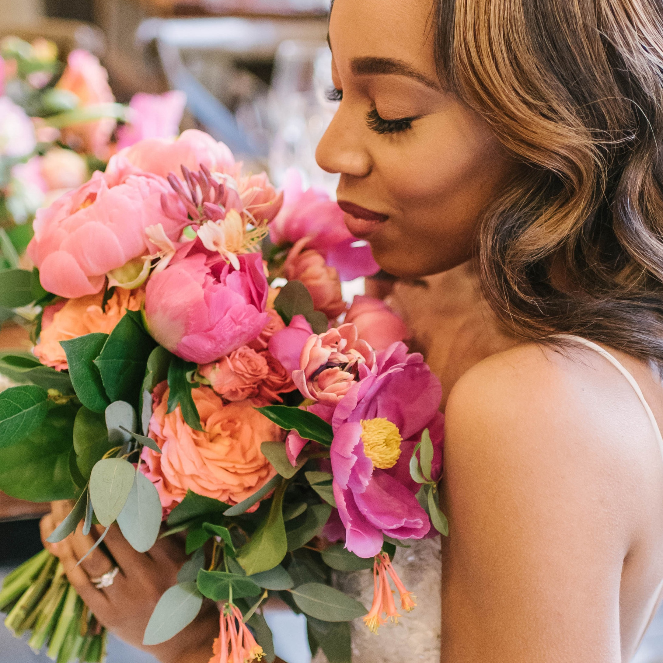 Living Coral Styled shoot planned by  Embrace Events LLC