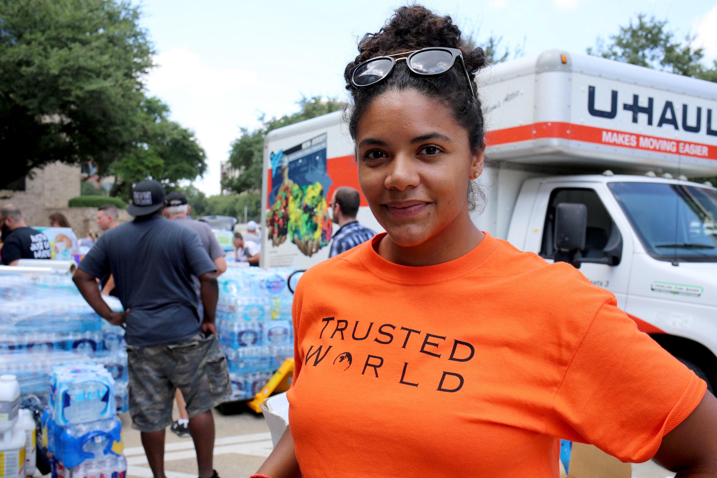 Georgia Provitt, volunteer with Trusted World donation site.