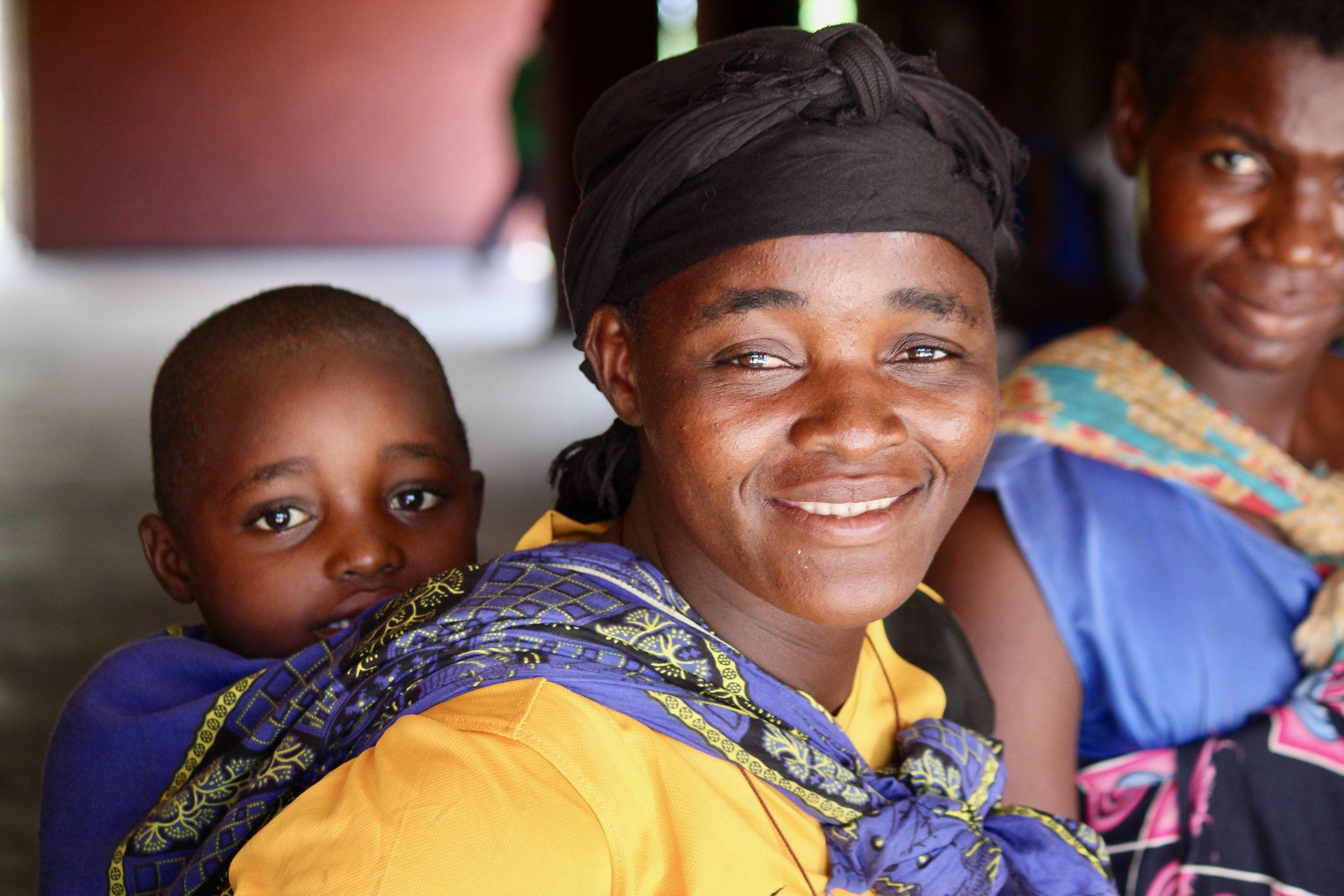 A mother and baby visit a clinic in Malawi.   Photo courtesy of Global Health Innovations.
