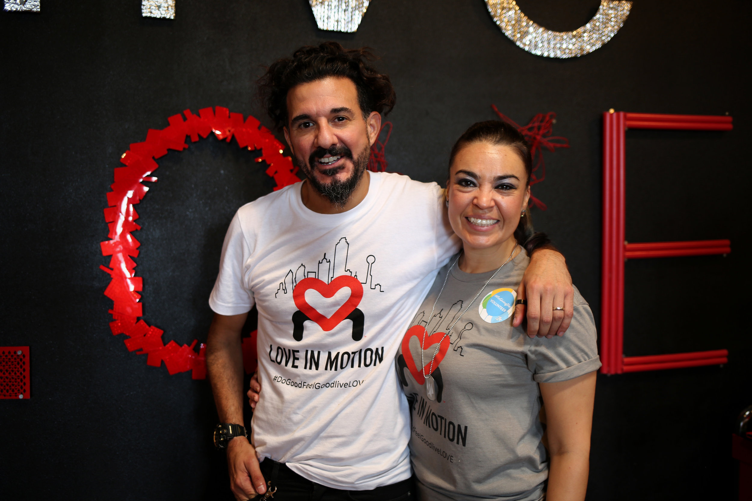 Pollo and wife, Polla, at the Love in Motion headquarters in Deep Ellum.