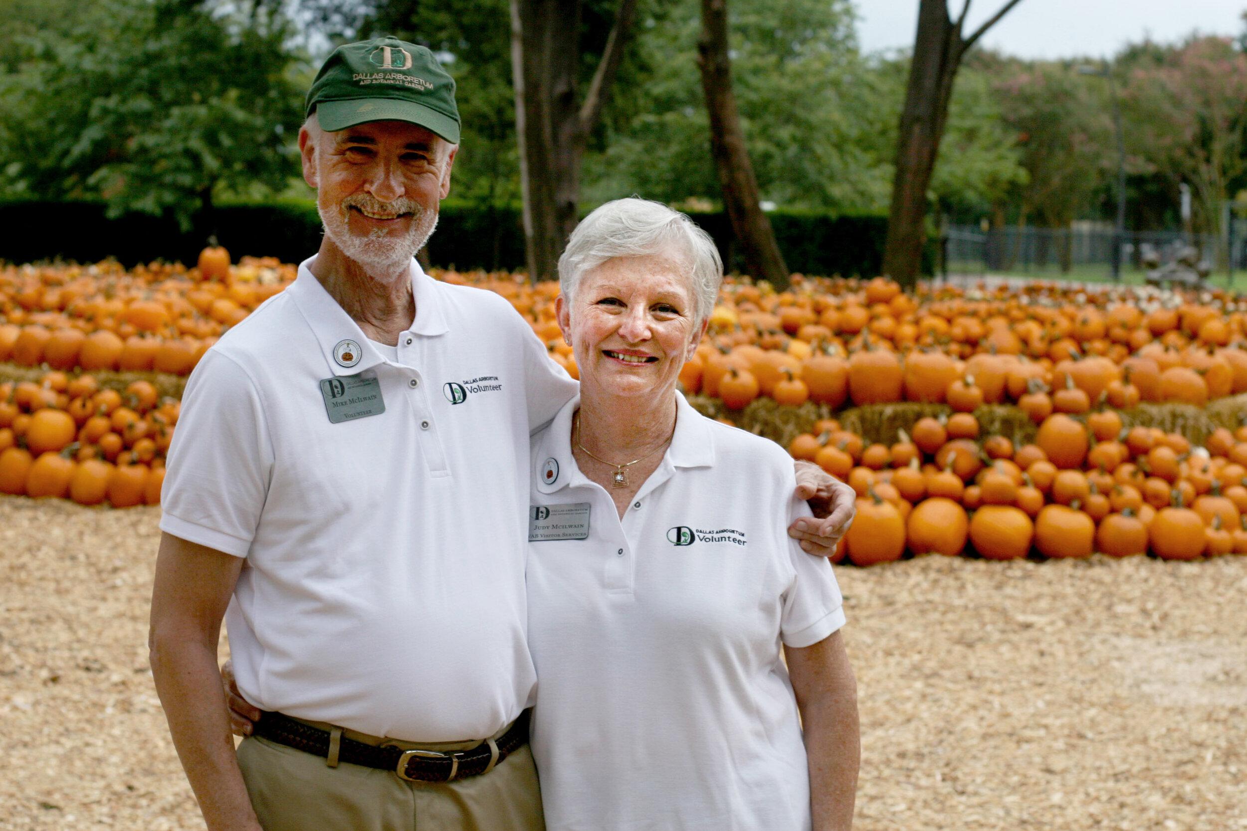 Mike and Judy McIlwain, Arboretum Volunteers