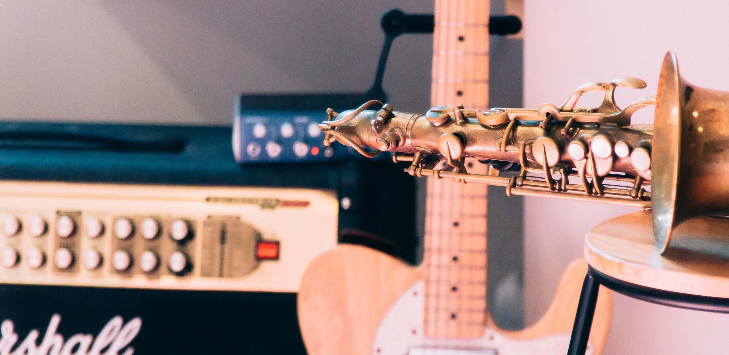 There is plenty of equipment for inspiration during lessons at Heavy Feet Studios in Wallsend, Newcastle