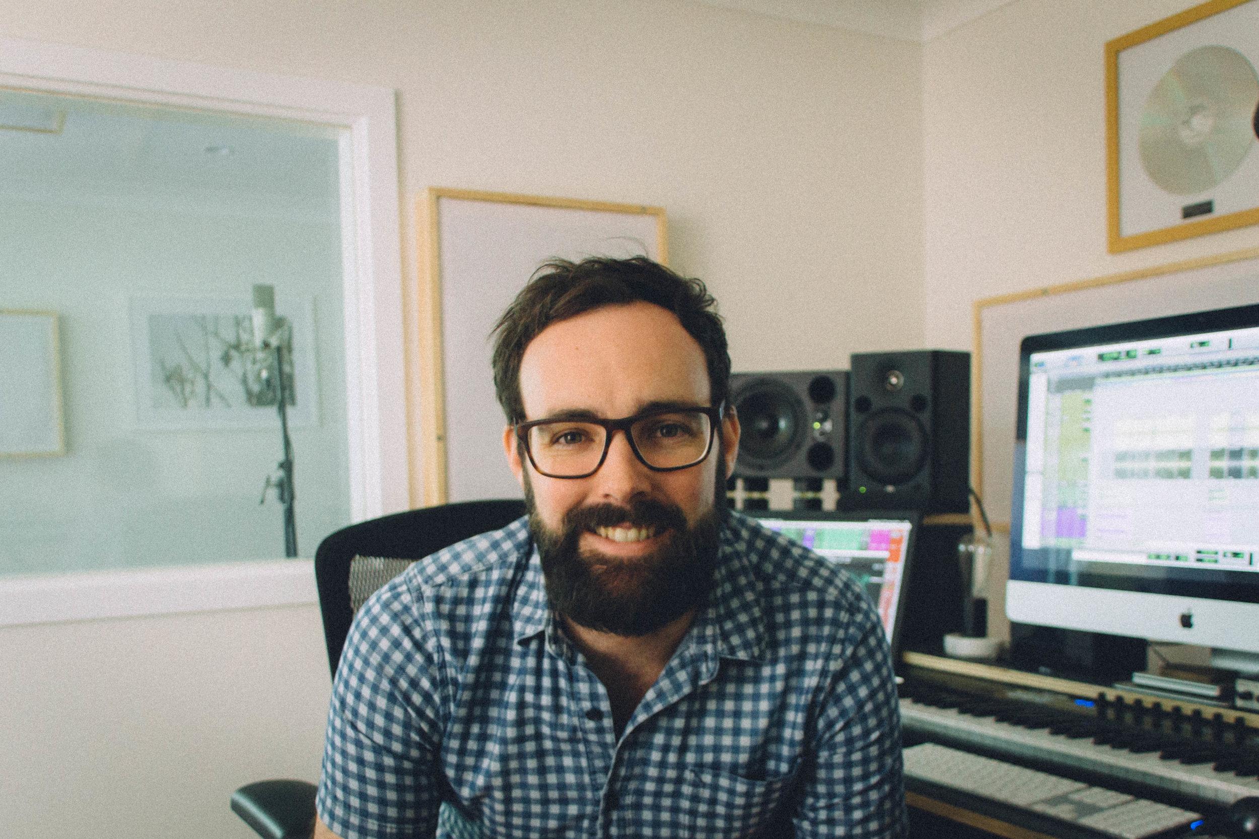 Jake Graham, music tutor at Heavy Feet Studios in Wallsend, Newcastle