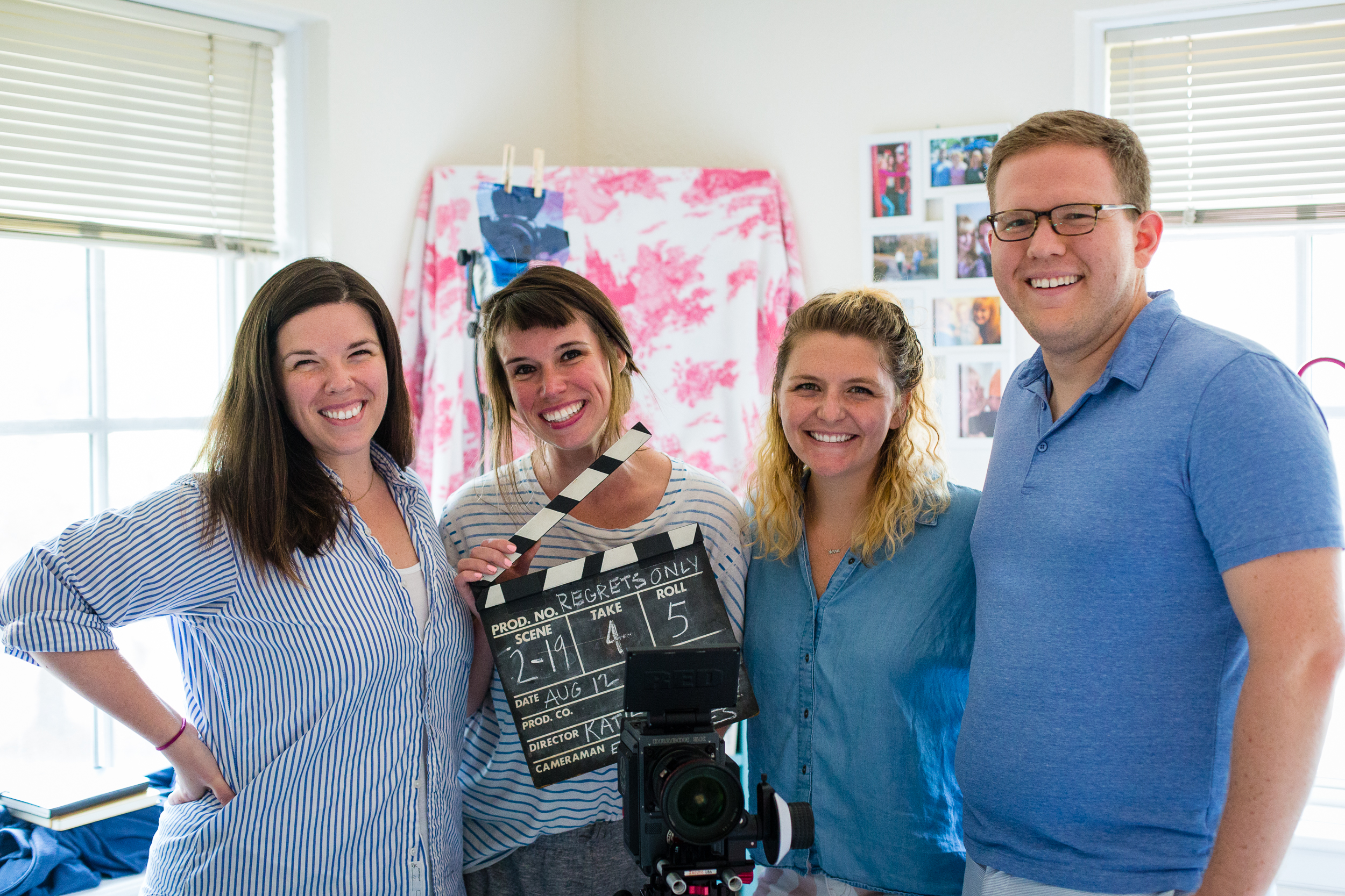 Day 4: Director/Editor Katie Stanley, Co-Creator/Writers Alice Stanley Jr. and Sierra Carter, and Producer Eric Dern.