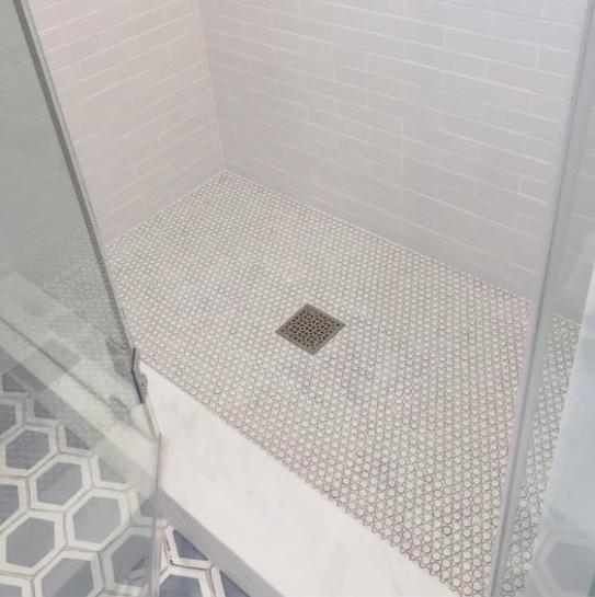 Shower pan - Image from Brooke Wagner Design