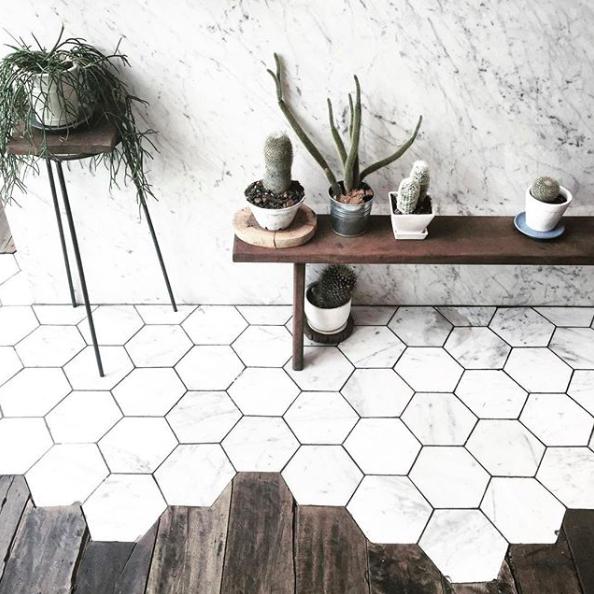Wood Floor Transition - Image from StoreWanderer