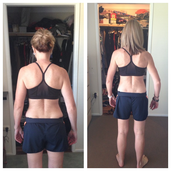 BACK - Left: Before, Right: After 8 Week NH-Fit