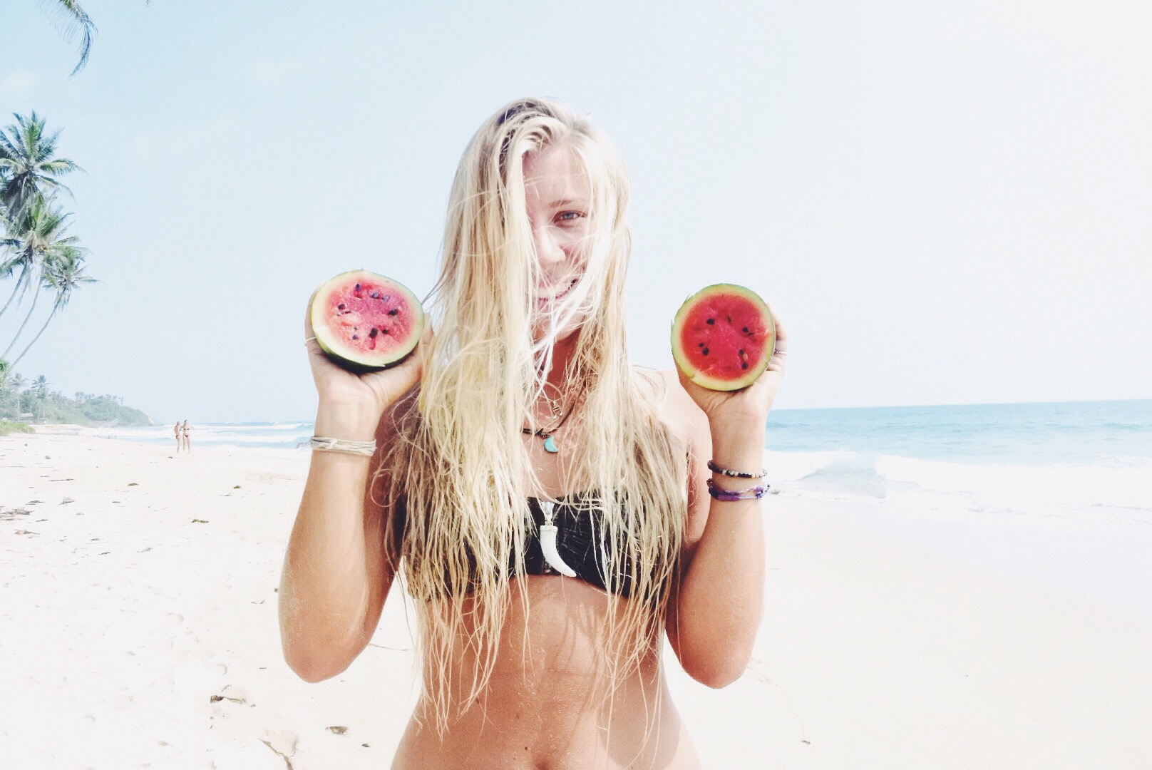 Surf Girl Watermelon    Unique Bohemian Beach Items from around the world   Salty Boho Boutique   www.saltyboho.com