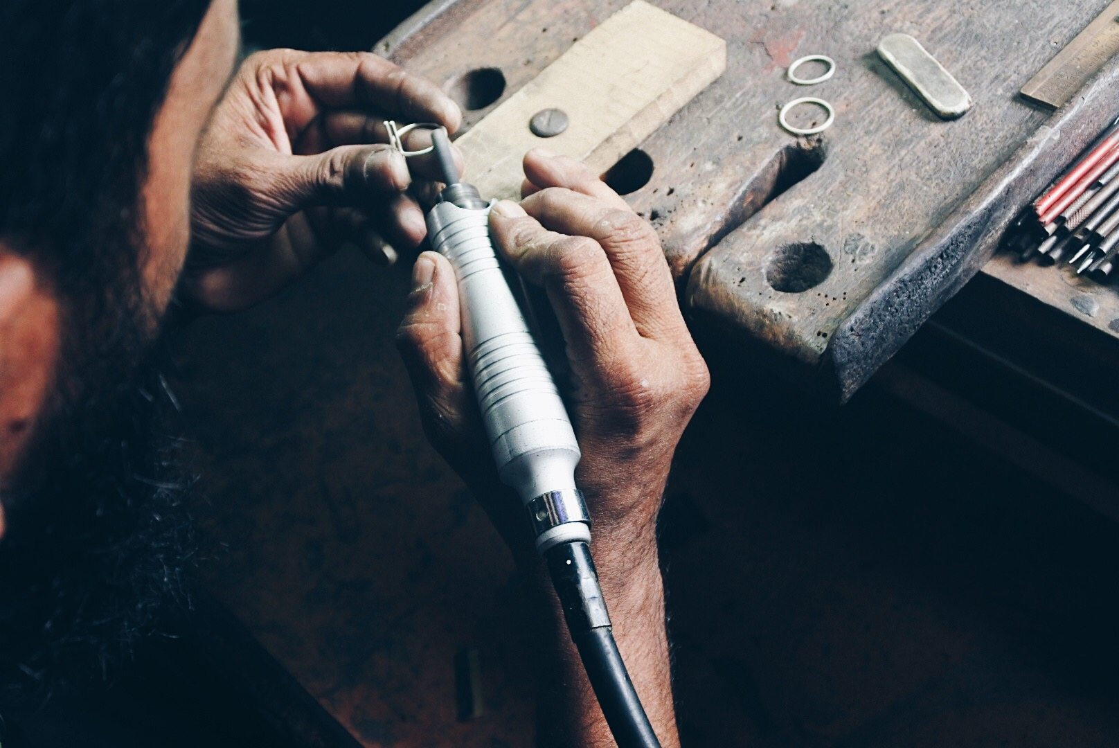 - It takes about 1-2 hours for our silversmith to complete a ring, depending on its shape. He is very thorough as the rings gets their last touch and polish and we hope you can feel it as you wear it.