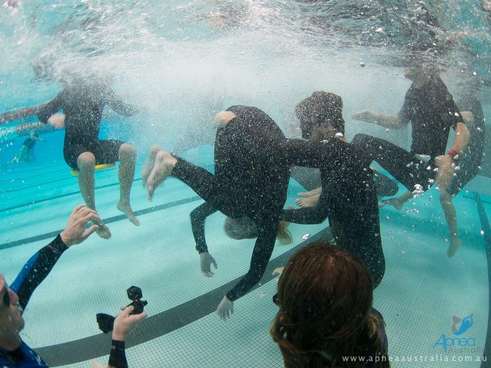 Freediving surf training for the bondi lifeguards