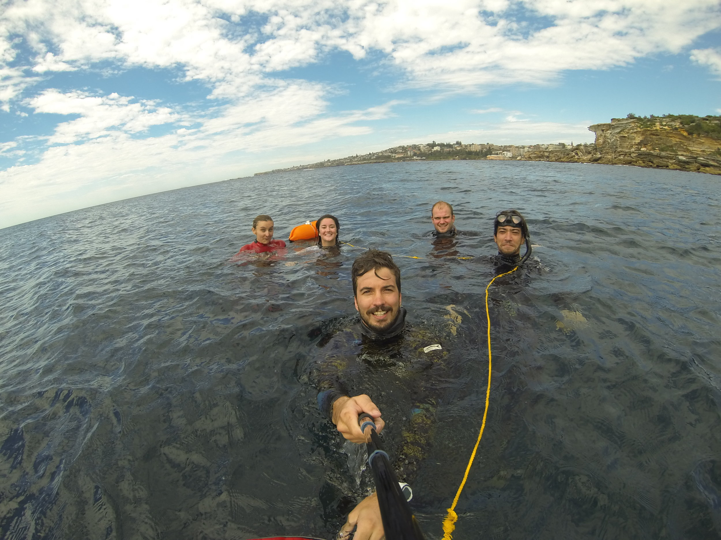 Fun diving and group depth sessions all around sydney