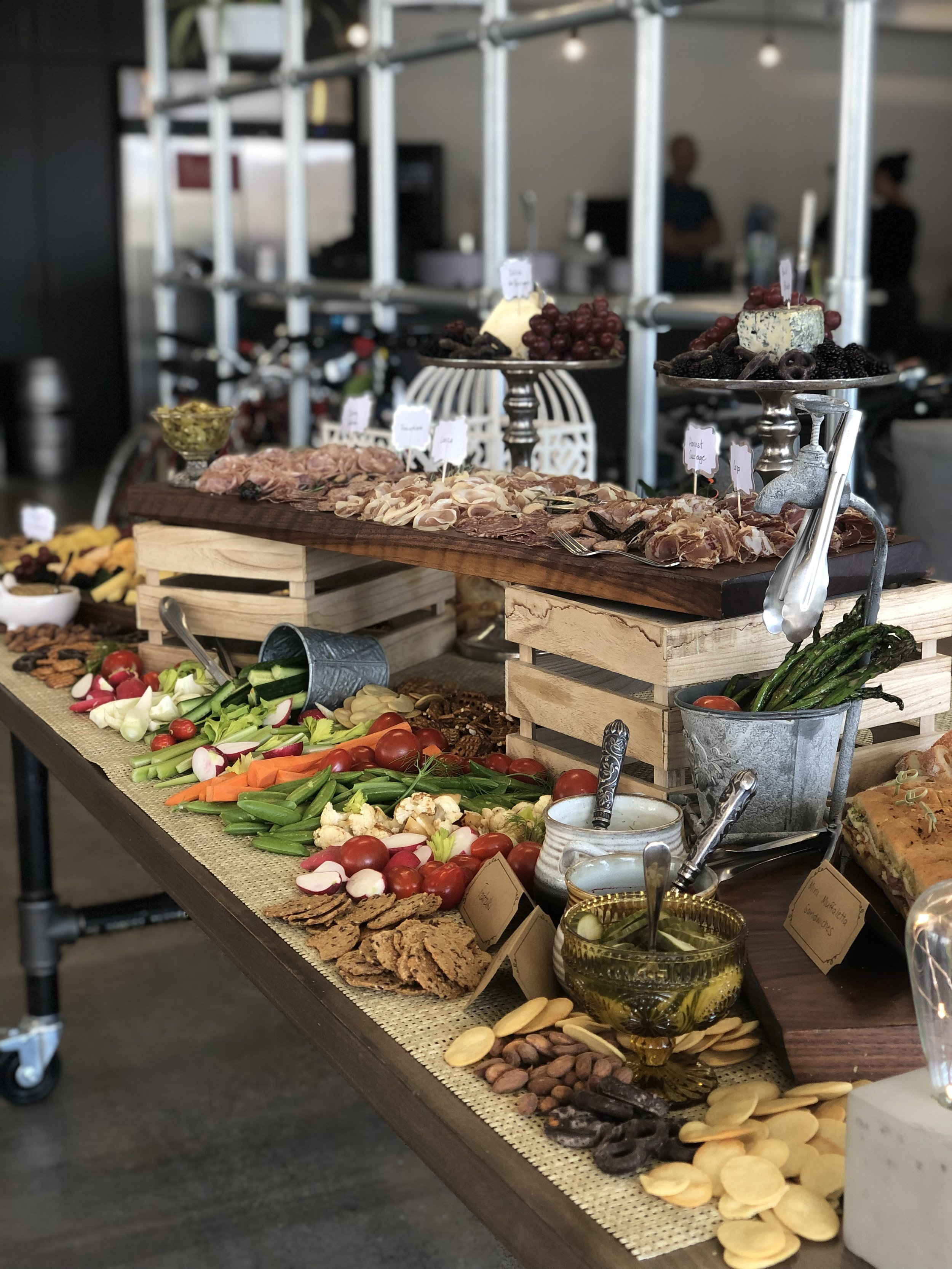 PRIVATE CATERING & EVENTS - AVAILABLE AS FAMILY STYLE DINING OR BUFFET FOOD STATIONS