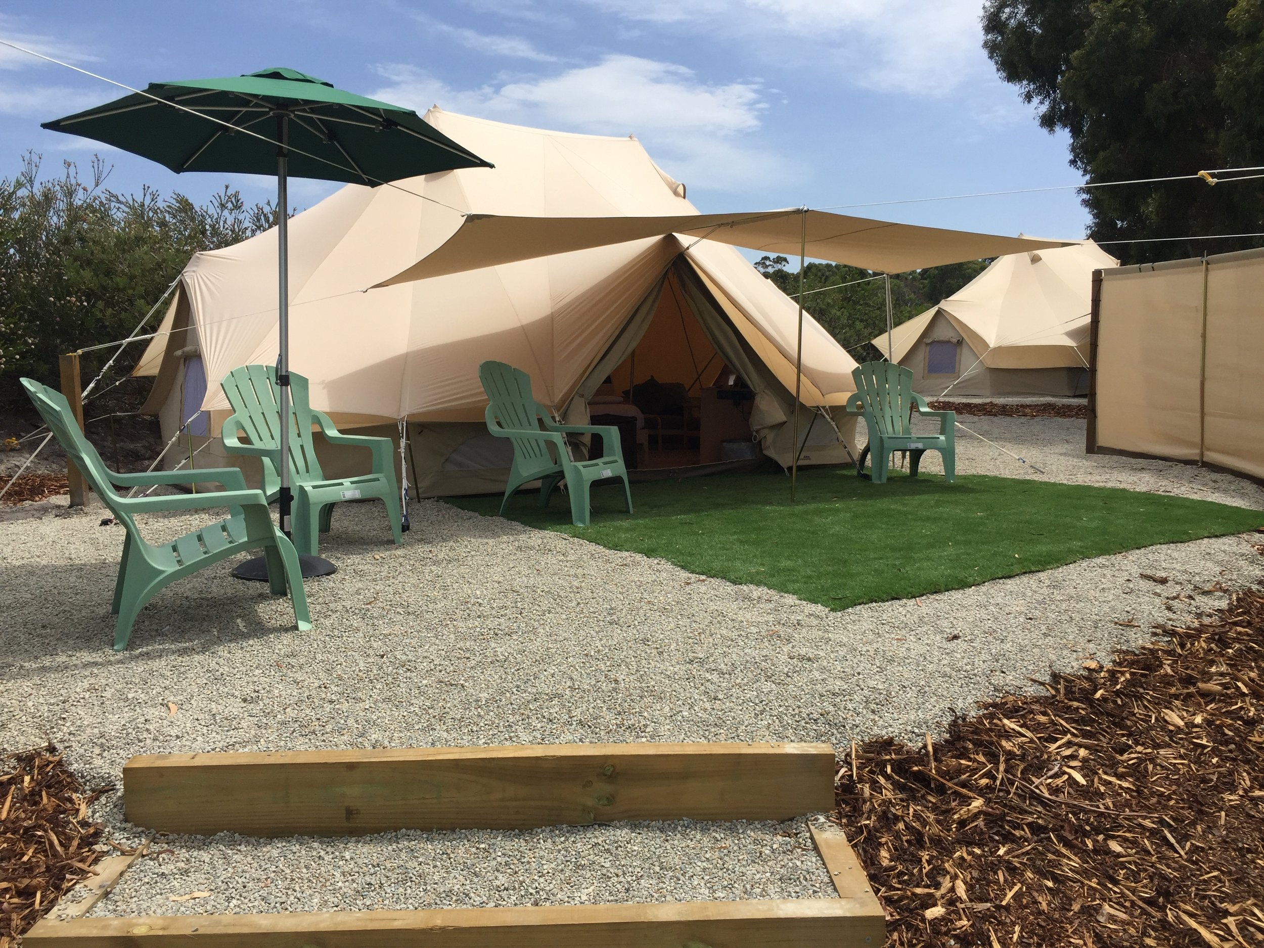 Family Glamping - Pack up the kids and bring them on a wonderful family glamping experience. Our Bell tents are all about getting back to nature with a big dose of luxury thrown in.