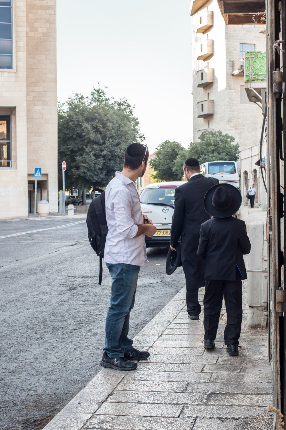 Surprise encounter with Dudi's distant relatives  Old City, Jerusalem, July 2016