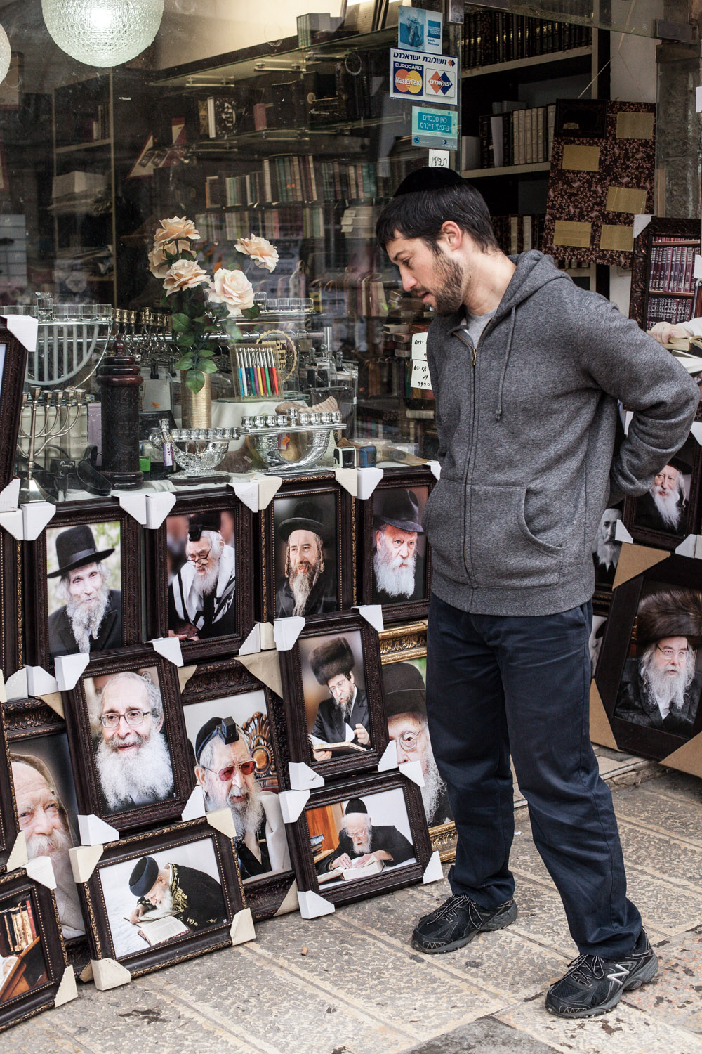 For the first time after leaving his religious past, Dudi visits the neighbourhood he spent half his yet life time at  Mea Shearim, Jerusalem, January 2016