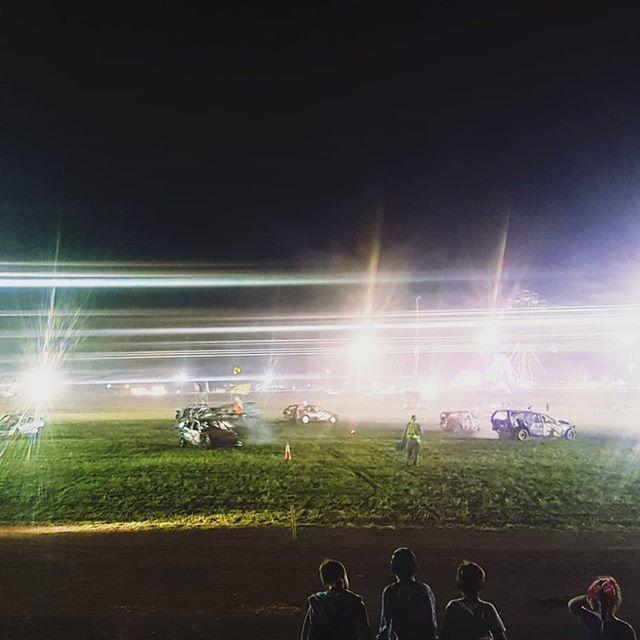 Lights, camera, destruction! . . . . #capture #crash #film #derby #crew #work #cars #destruction #production #productioncompany #productionlife