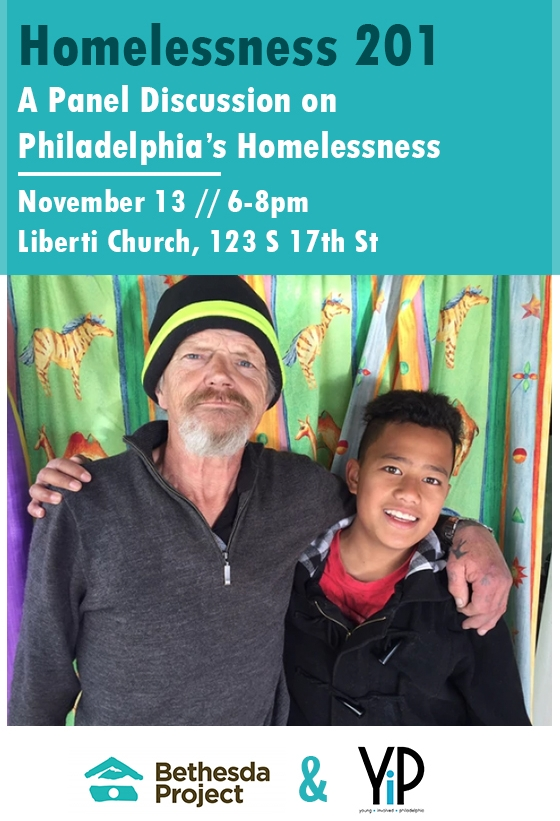 Young Involved Philly    and Bethesda Project hosted a panel discussion on homelessness with community partners.