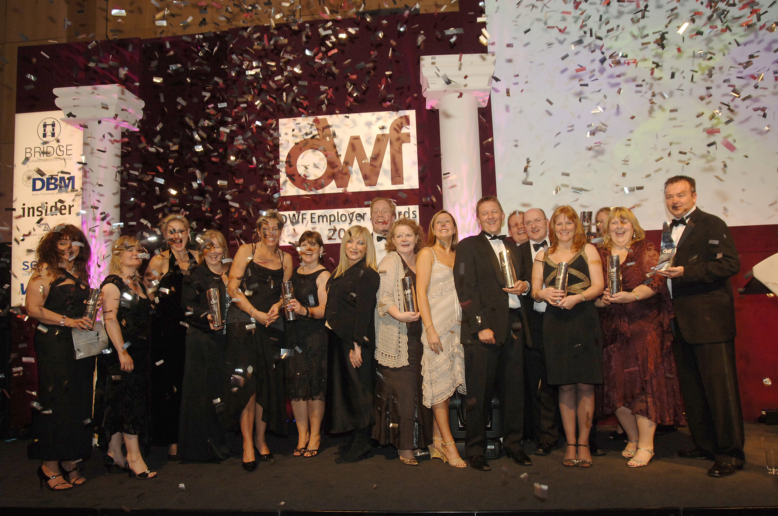 DWF Business Awards all winners with confetti 2007.jpg